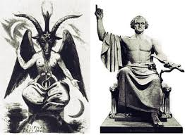 Image result for angel behind LORD ... Albert Pike's statue, d.c.