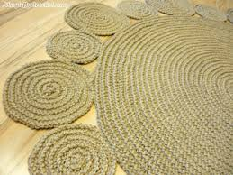 handmade playful jute rug 5ft round