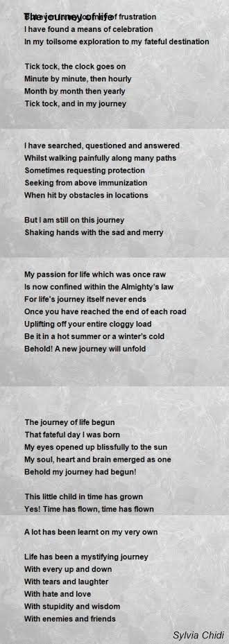 poem about life journey