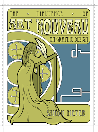 art nouveau book cover by narshero