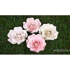 Small Paper Flower Templates Items Similar To Small Paper Flower Template Small Rose Paper