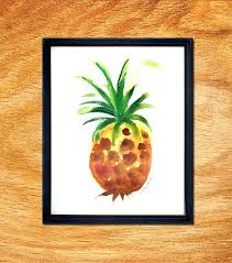 picture frame painting design ideas unique pineapple watercolor painting design with black frame color style home