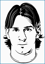 Messi Coloring Pages Cute Lionel Messi Soccer Coloring Pages Boys