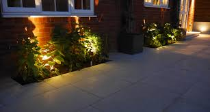 garden lighting designs. Slate Grey Garden Lighting Downlighters On A Wooden Clad Wall In Newly Designed And Landscaped Designs D