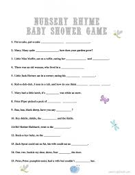 Free Printable Nursery Rhyme Quiz  Baby Shower Quiz Fun Baby Baby Shower Games Nursery Rhymes