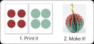 Make Christmas Ornaments - Printable Paper