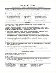 Example Military Resume Fascinating Police OfficerMilitarytoCivilian Resume Sample Monster