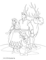 Small Picture Anna Kristoff Sven and Olaf go on a journey to bring Elsa back