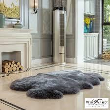 windward 100 sheepskin quad rug in 2 colours
