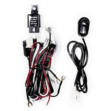 amazon com winjet universal wiring harness include switch kit car amazon com winjet universal wiring harness include switch kit car auto fog lights lamp wire led off road wiring kit 130w 40 amp relay automotive
