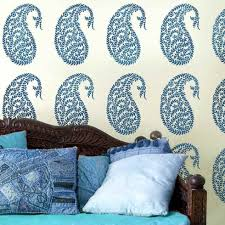 jaipur paisley wall stencil medium trendy wall art easy home improvement by cutting  on paisley wall art stencil with jaipur paisley wall stencil medium trendy wall art easy home