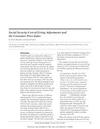 Indexation Chart Pdf Pdf Social Security Cost Of Living Adjustments And The