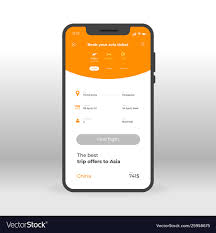 Design Of Screen Orange Online Airways Booking Ui Ux Gui Screen