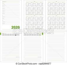 Daily Planner Template 2020 Datebook Diary Daily Planner Calendar 2020 Year