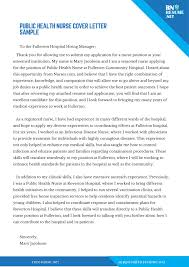 How To Write A Nursing Cover Letters Easy Professional Public Health Nurse Cover Letter Writing