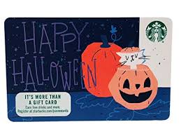 Halloween Gift Cards Starbucks Gift Card 2018 Happy Halloween Recycled Paper Collectible No Value