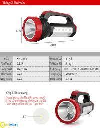 Đèn pin sạc siêu sáng kiêm đèn bàn   giá rẻ chính hãng tại hà nội