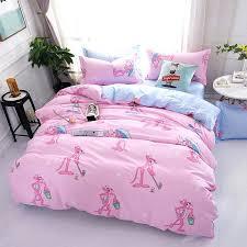 personalized bedding sets fashion pink panther personalized polyester bedding set pink euro king monogram bedding sets