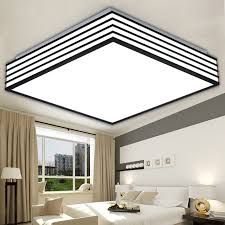 square modern led ceiling lights living lamparas de techo light with led kitchen ceiling light fixtures