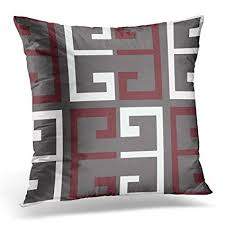 maroon decorative pillows. Fine Decorative TORASS Throw Pillow Cover Red Dark Gray Maroon And White Colored Decorative  Case Home Decor With Pillows