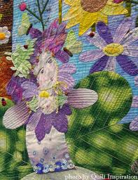 94 best Fantasy & fairytale quilts images on Pinterest | Quilting ... & close up, Summer Fairy by Kazue Tsukayama, Japan. 2015 World Quilt Show. Adamdwight.com