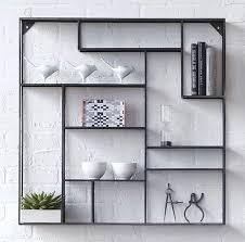 cb2 alcove wall shelf raw look