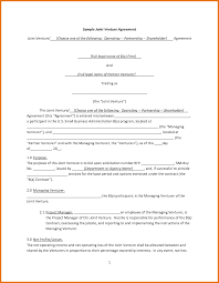 Free Joint Venture Agreement 24 Sample Joint Venture Agreement Itinerary Template Sample 6