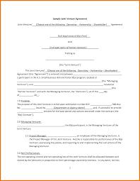Joint Partnership Agreement Template 24 Sample Joint Venture Agreement Itinerary Template Sample 7