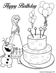 Small Picture olaf anna and birthday cake colouring page Coloring pages Printable