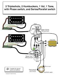seymour duncan wiring diagram 2 triple shots 2 humbuckers 1 vol seymour duncan wiring diagram 2 triple shots 2 humbuckers 1 vol phase switch 1 tone series parallel switch