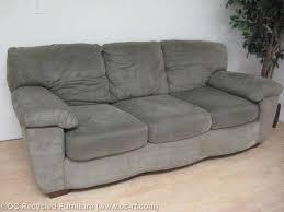 Ashley Furniture Green Microfiber Sofa 6150