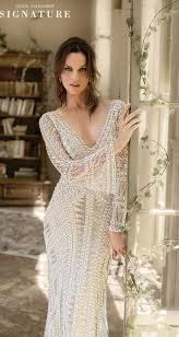 Beaded Designer Wedding Gowns Style 9896 Geometric Pearl And Bugle Beaded Wedding Dress