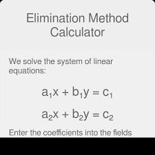 elimination method calculator with steps