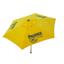 perfect patio aluminum tilt patio umbrella in yellow polyester and t