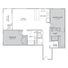 Floor Plans For MSU Students  Student Housing In East LansingApartments Floor Plans 2 Bedrooms