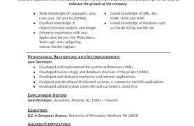 Resume Java Developer Matchboard Co