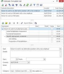 Work Estimate Templates Estimate Templates List