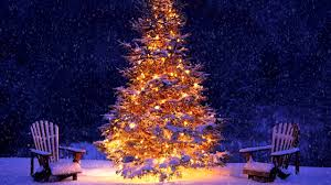 Snowing Christmas tree and Christmas music - YouTube