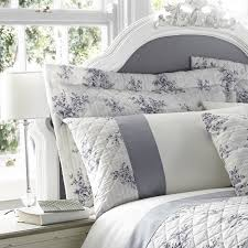 exciting french style bedding sets catherine lansfield toile fl blue grey collection country