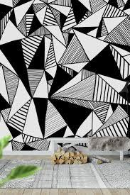 Black And White Mural Design Pyramids Xl Wall Mural Wallpaper Patterns Wall Patterns
