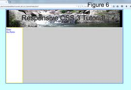 HTML Div & Responsive CSS Tutorial using Notepad
