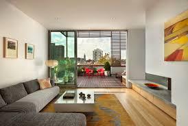 Modern Zen Living Room Design with Natural Color Carpet and Patio Deck  Inspirational Modern Zen Living