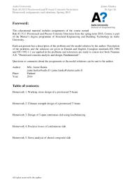 prestressed concrete course assignments