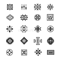 navajo tattoo designs. Download Traditional Tribal Mexican Symbols. Navajo Ethnic Culture Vector Tattoo Icons For Print. Stock Designs O