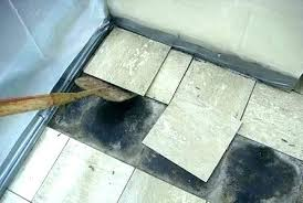 removing tile from concrete floor asbestos removal slab fl
