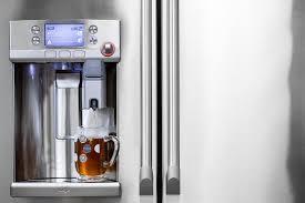 refrigerator with keurig coffee maker. GE Caf Series Refrigerator With Keurig KCup Brewing System Coffee Maker