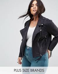 missguided plus faux suede biker jacket black women s jackets 8iv2ump2