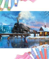 royal and langnickel large print paint by numbers winter magic