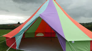 boutique camping 7m rainbow bell tent