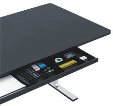 Spaceist - Q-10 electrically height adjustable standing desk with under desk  drawer